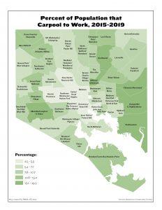 Percent of Population that Carpool to Work