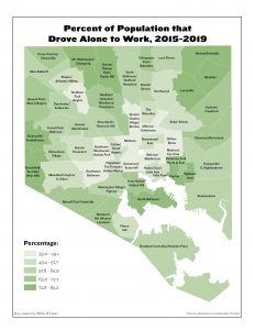 Percent of Population that Drove Alone to Work