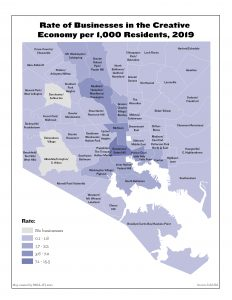 Rate of Businesses in the Creative Economy per 1,000 Residents
