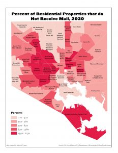 Percent of Residential Properties that do Not Receive Mail (2020)